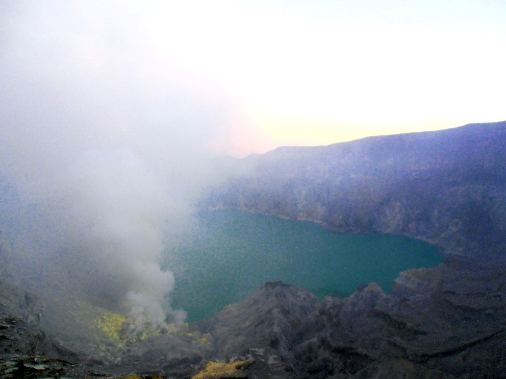 Scenic Beauty and Blue Fire on Ijen Crater